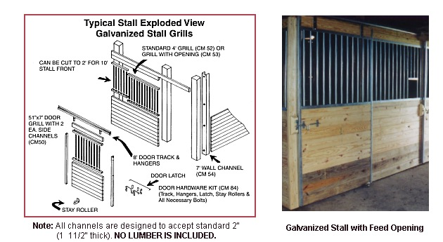 Galvanized Steel Horse Stall Kits