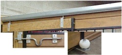 Horse stall sliding door kit